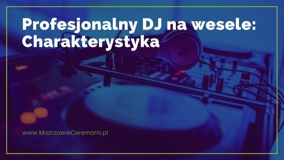 Profesjonalny DJ na wesele: Charakterystyka